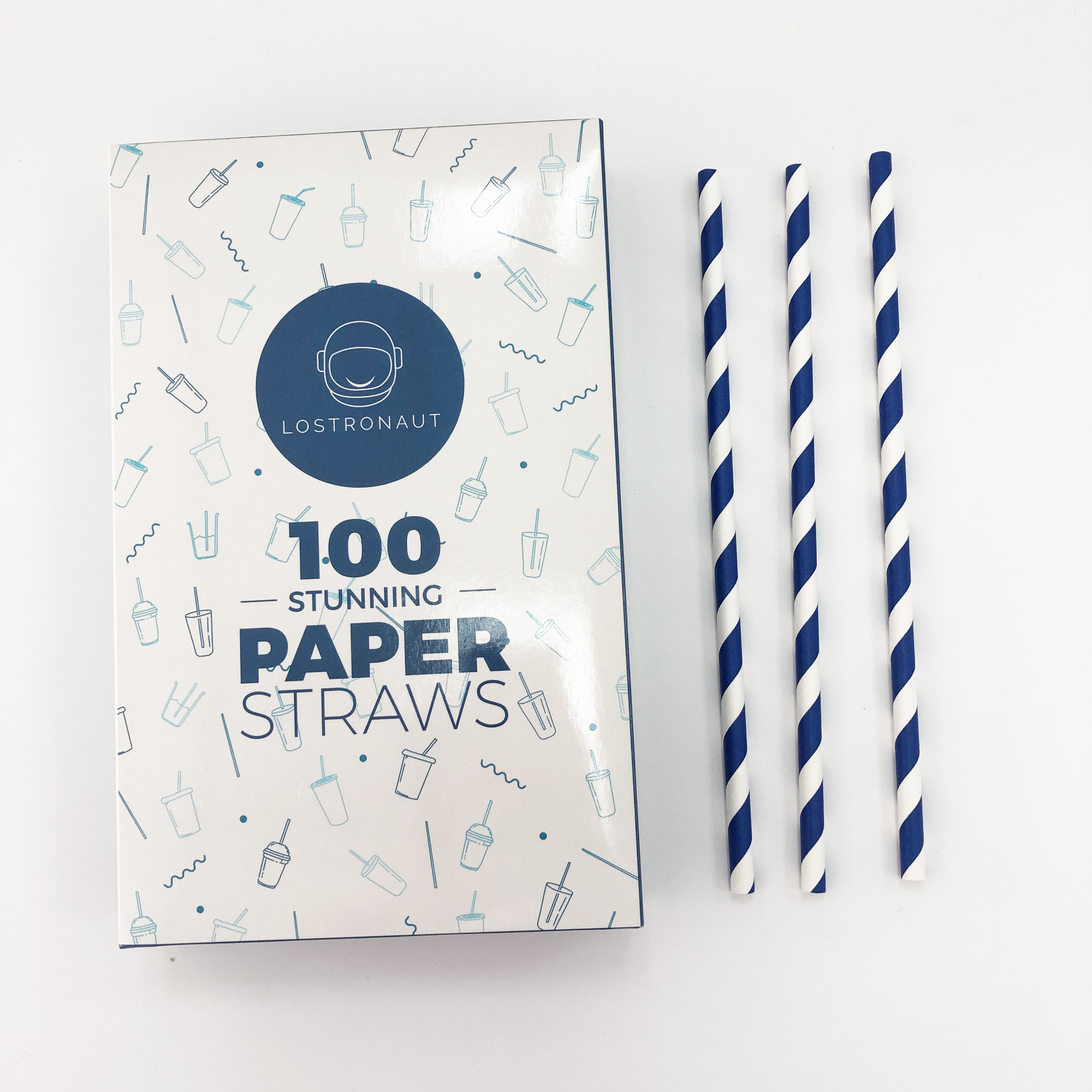 Paja de papel biodegradable desechable
