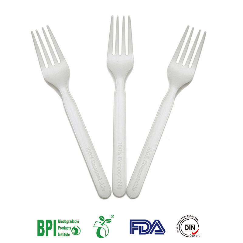 Tenedor desechable 100% biodegradable de 6 pulgadas